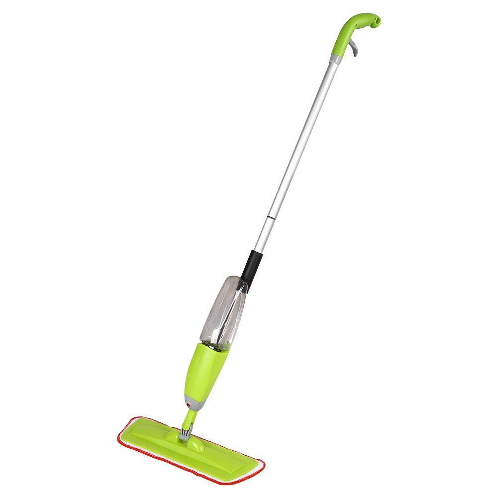 Floor Spray Mop, Microfiber Water Spray Cleaner 360 Degree Rotating Head Flat Handle Mop Floor Cleaner Dust Household Tool for Home Kitchen Hardwood Laminate Wood Ceramic Tiles Cleaning Zerodis