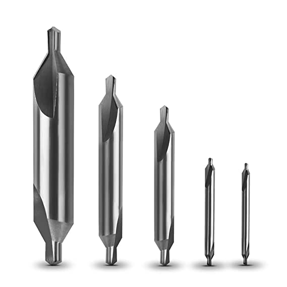 Atoplee 9pcs B Type HSS 120/° Center Drill Combined Drill /& Countersink Lathe Tool Set