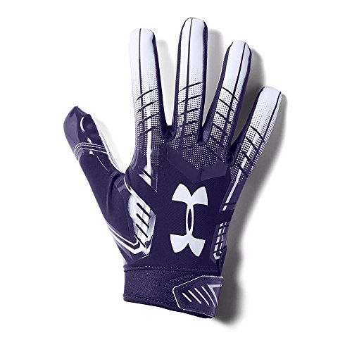 Under Armour Men's F6 Football Gloves, Purple (500)/White, Large