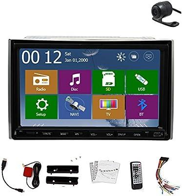 MP4 est¡§|reo Autoradio CD navegador GPS universal 2 Din de audio del sistema receptor video del veh¡§aculo de accesorios coches reproductor de DVD del coche multimedias de radio FM AM logo de