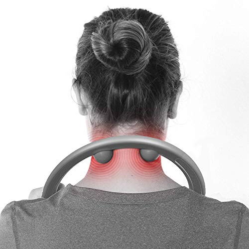 LiBa Back and Neck Massager for Trigger Point Fibromyalgia Pain Relief and Self Massage Hook Cane Therapy