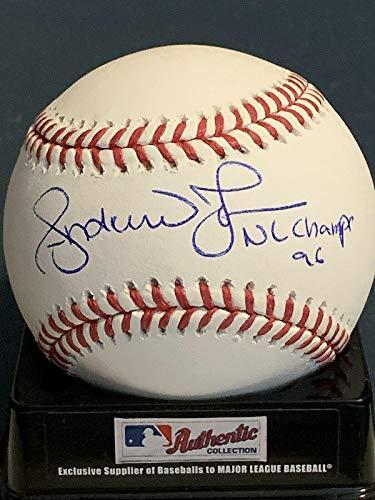 Autographed Andruw Jones Baseball - Nl Champs 96 Oml - Autographed Baseballs