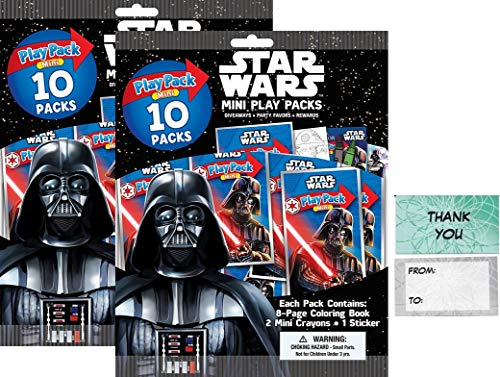 Bendon Star Wars 20 Mini Play Packs Party Favors Bundle with 20