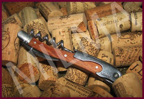 Laguiole Waiter's Corkscrew - Rosewood Handle w/ Leather Pouch