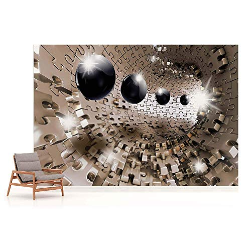(3D Puzzle Tunnel Photo Wallpaper Wall Mural,150105CM)