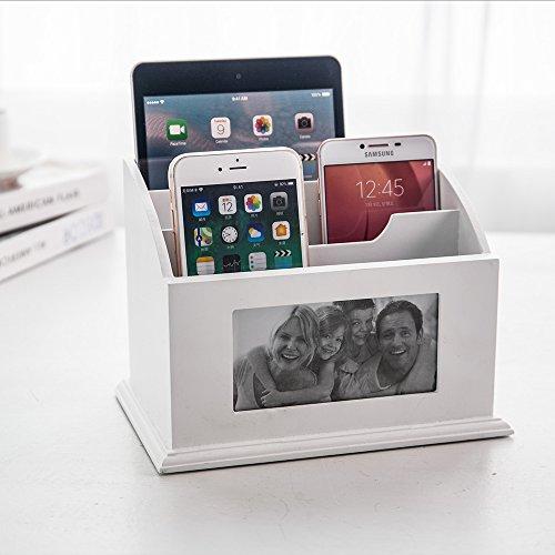 inart wooden desk organizer pen holder remote control storage mail rh oldmillmiddlenorth com