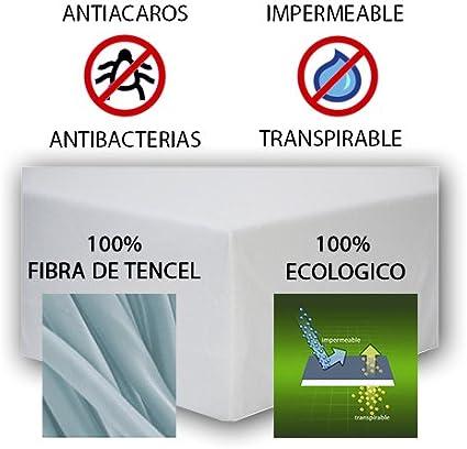 impermeable y transpirable Juego de 2 s/ábanas bajeras protectoras para cuna de calidad hechas de Tencel Bedding Industrial Begud/á color Verde medidas anchura: 60cm x fondo: 120cm