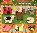 Melissa & Doug 8 piece, chunky farm animal puzzle