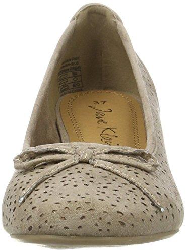 223 Jane De Cerrada Para Con Klain Punta stone Zapatos Beige Tacón 766 Mujer 5xZIwRrZn6
