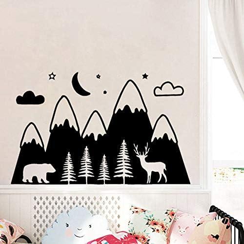 yaoxingfu Cartoon Animal Mountain Forest Etiqueta de la Pared ...