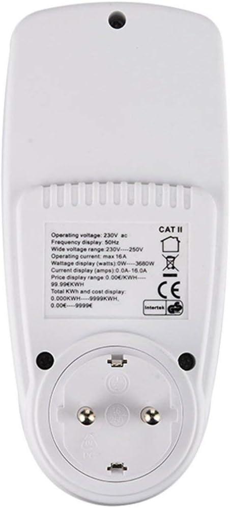 Candybarbar KWE-PMB01 Enchufe Enchufe Voltaje Digital Watt/ímetro Consumo de energ/ía Watt Medidor de energ/ía AC Analizador de Electricidad Monitor