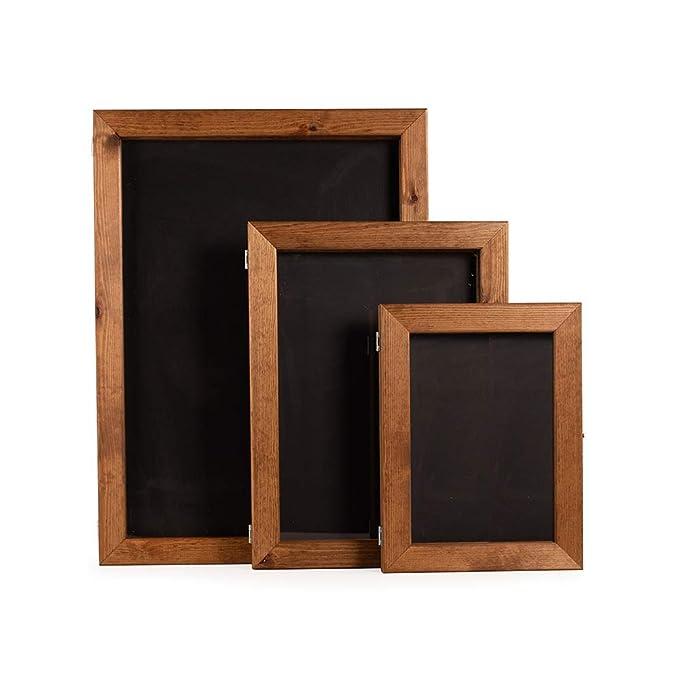 A1 con pizarra de madera soporte de carteles (H: 841 x W ...