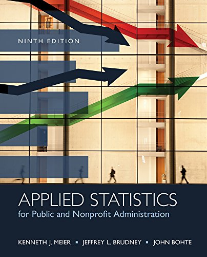 Pdf Science Applied Statistics for Public and Nonprofit Administration