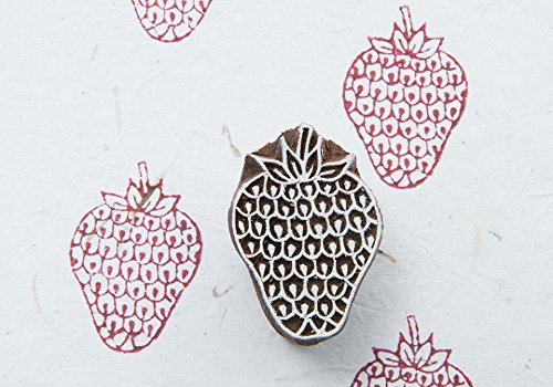 - Blockwallah Sweet Strawberry Wooden Block Stamp