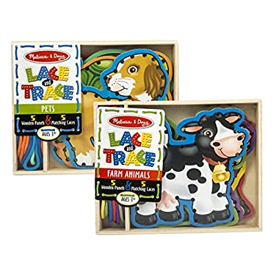 Melissa & Doug Lace and Trace Farm with Lace and Trace Pets: Toys & Games