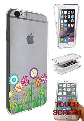 5.5' Springs - C0712 - Hippie Flower Patch Summer Spring Colourful Design iphone 6 Plus / 6S plus 5.5'' Fashion Trend CASE Gel Rubber Silicone Complete 360 Degrees Protection Case Cover