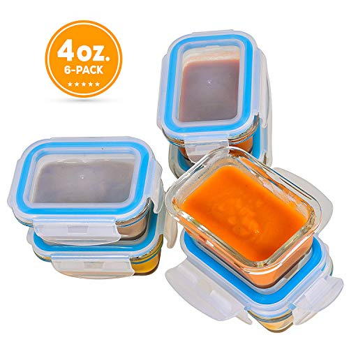 glass baby food containers 1 cup - 6