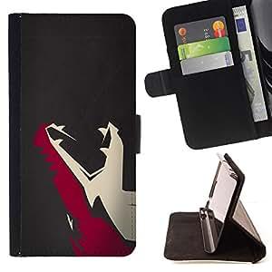 - Minimalist T Rex Dinosaur - - Prima caja de la PU billetera de cuero con ranuras para tarjetas, efectivo desmontable correa para l Funny HouseFOR Samsung Galaxy S4 IV I9500