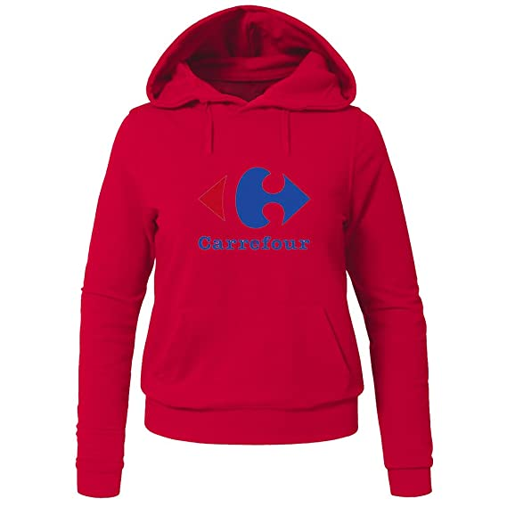 Carrefour Logo For Ladies Womens Hoodies Sweatshirts Pullover Outlet: Amazon.es: Ropa y accesorios