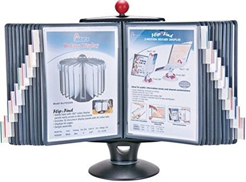 Aidata IFS001L E-Z Rotary Reference Organizer With Whiteboard, 360 Degrees of Swivel Rotation, and 20 Display Panel For Up To 40 Pages
