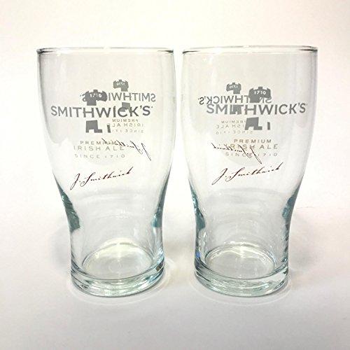 Smithwicks Ale - Smithwick's Irish Ale - 16 Ounce Glass - Set of 2