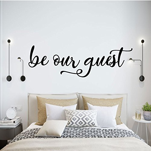 Bedroom Country Poster Bed - Be Our Guest Wall Decor for Decorating Home Guest Bedroom, Hotel, Bed and Breakfast