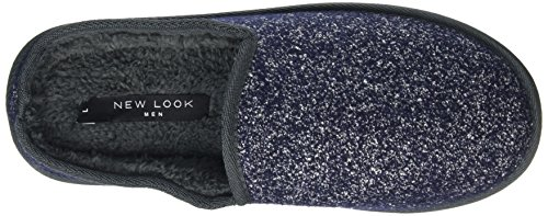 New Look Men's Fleck Mule Low-Top Slippers Blue (Navy) aS2QwqX