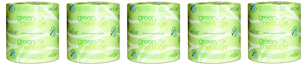 Green Heritage 275 4.5'' Length x 3.1'' Width, 2-Ply Bathroom Tissue (Case of 96 Rolls, 500 per Roll) (5-(Case of 96 Rolls, 500 per Roll))