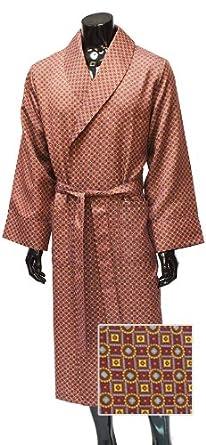 Men\'s Luxury Dressing Gown - Lightweight Mock Silk - Fine Wine Red ...