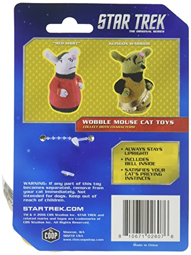 Image of The Coop Star Trek Klingon Wobble Mouse Cat Toy, One Size