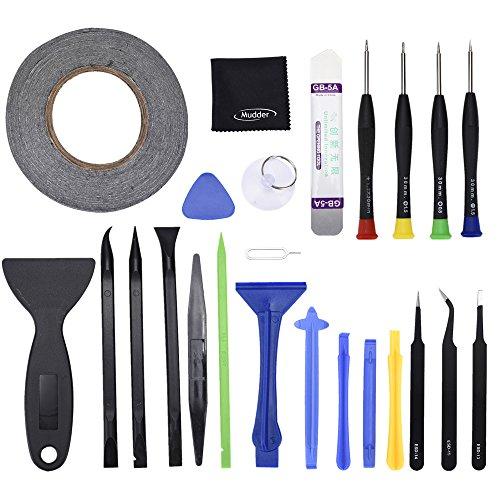 Mudder 24 in 1 Reparatur-Tools Schraubendreher Eröffnung Tools Set für iPhone, iPad, Samsung, HTC und andere Geräte