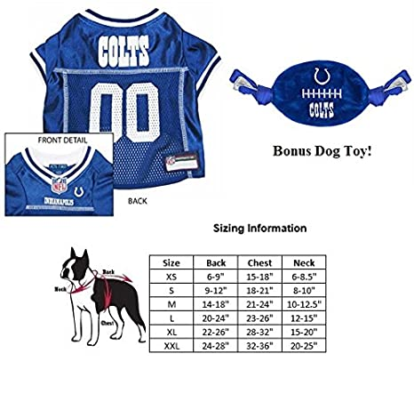 4d7f90f6 Amazon.com : Indianapolis Colts COMBO Dog Jersey [EXTRA SMALL (XS ...