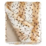 60X60 LIMITED EDITION THROW SNOW LEOPARD