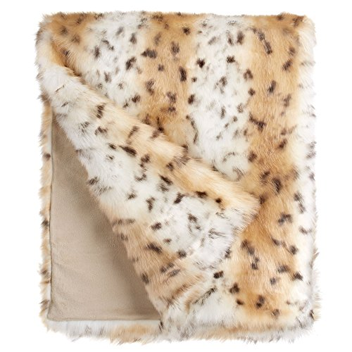 60X86 LIMITED EDITION THROW SNOW LEOPARD by Donna Salyers' Fabulous-Furs