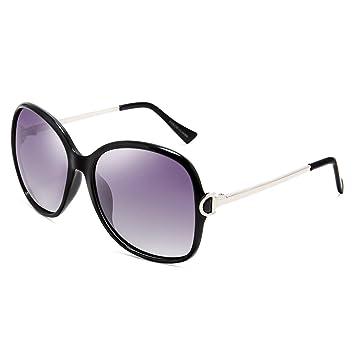 LQQAZY Gafas Polarizadas para Mujer Gafas De Sol Marcos Finos Moda Caja Grande Gafas De Sol