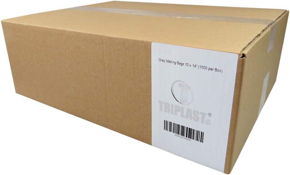 Grey Pack of 100 Triplast 4 x 6-Inch Plastic Mailing Postal Bag