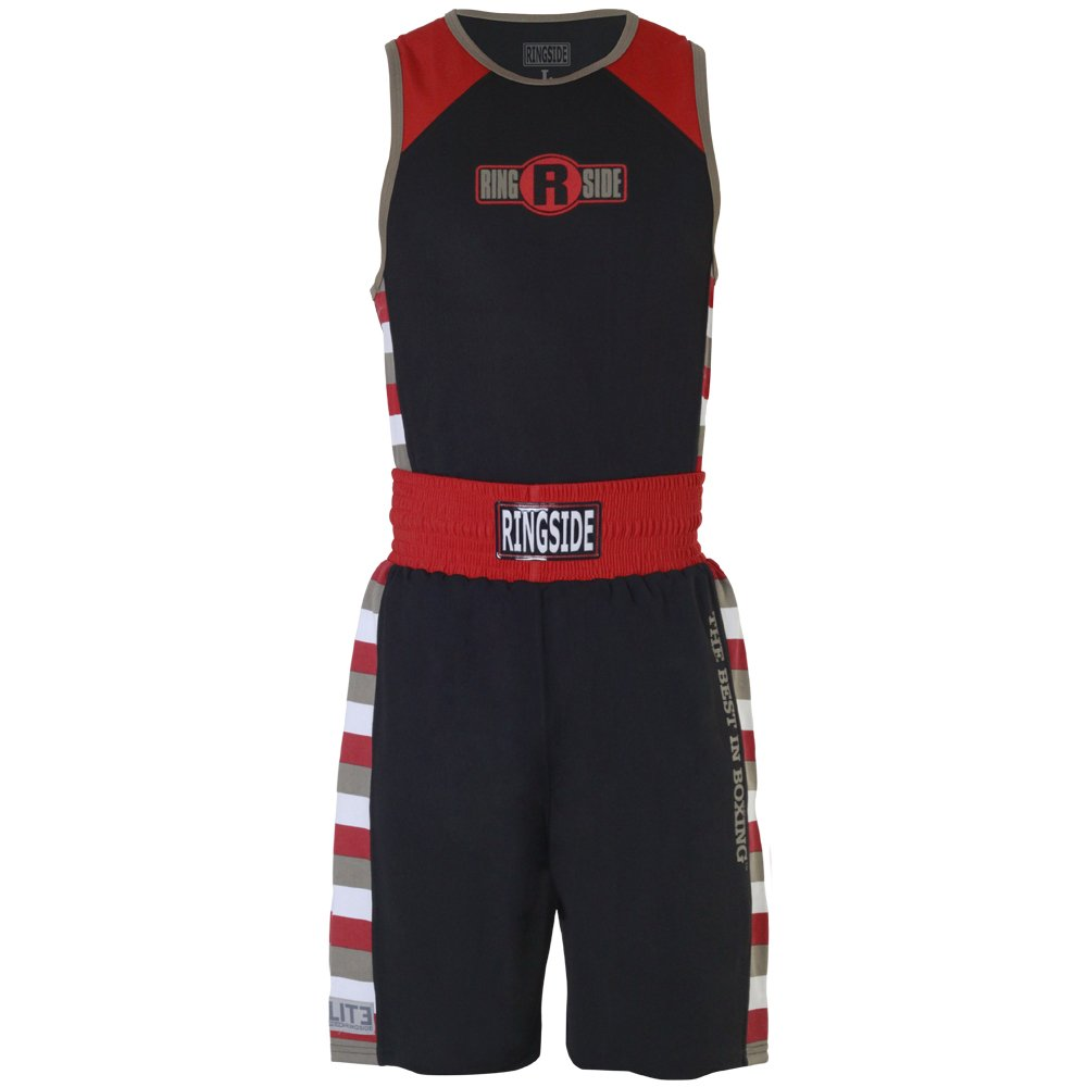 Ringside Youth Elite # 4 Outfit、ブラック/グレー、スモール B00O7X07G8 Black / Gray / Red Youth Small