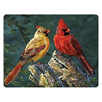 Rivers Edge Cardinals Glass Cutting Board