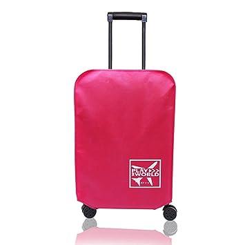 LYCOS3 Funda de Equipaje de Viaje, Impermeable y antiarañazos, Funda Protectora para Maleta de Viaje de 20 a 30 Pulgadas, Rojo Rosado, 56 cm: Amazon.es: ...
