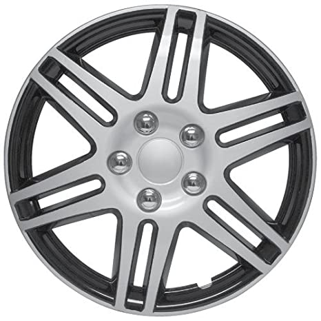 Amazon.com: RTX, ABS hubcaps, Black & Silver, 16, set of four, plastic clips 80-1416: Automotive