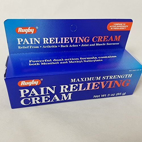 (Rugby Maximum Strength Pain Relieving Cream, 3oz. Per Tube (2 Pack))