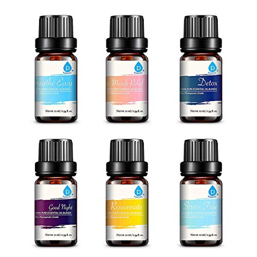 Pursonic 100 Pure Essential Oil Blends Gift Set 055 Pound