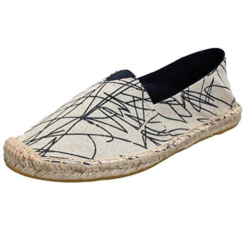 Vogstyle Unisex Adulto Zapato Flats Ballerinas Slip-On Zapatos de Lona Estilo 4-Azul