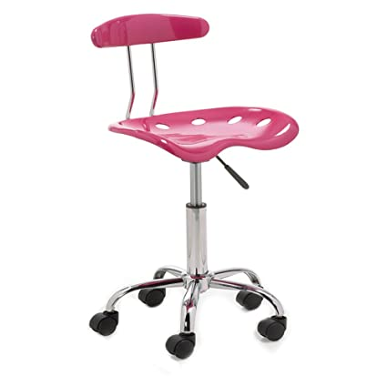 silla escritorio juvenil, color rosa