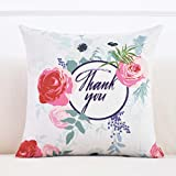 Cushion Hand-painted cotton and linen pillow square pasture bedside pillow office sofa sofa cover fabric home back core ( Color : K , Size : 4545cm )