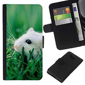 EJOY---La carpeta del tirón la caja de cuero de alta calidad de la PU Caso protector / Samsung ALPHA G850 / --Feliz linda Rata del animal doméstico