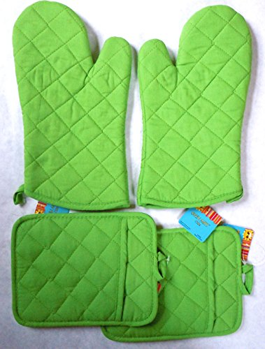 Lime Green Holders Oven Mitts