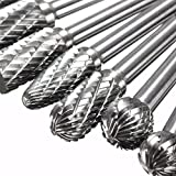 8pcs 1/4 Inch Shank Double Cut Carbide Rotary