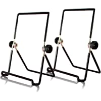 2 Pcs Multi Purpose Bookstand, Kicpot Holders Three Wire Display Stand for Books, Cookbook,iPad, Tablet,Music (Iron)