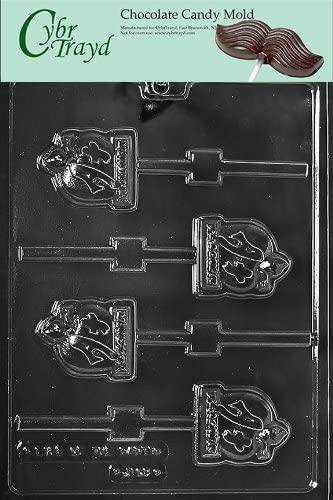 Cybrtrayd Basketball Player Pop Sports Chocolate Candy Mold with 50 4.5-Inch Lollipop Sticks and Chocolatiers Guide